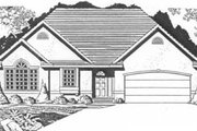 Traditional Style House Plan - 2 Beds 2 Baths 1265 Sq/Ft Plan #58-126 Exterior - Front Elevation