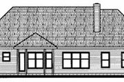 Traditional Style House Plan - 3 Beds 2.5 Baths 1886 Sq/Ft Plan #20-604 Exterior - Rear Elevation