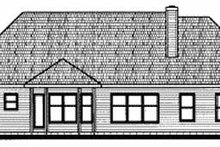 Home Plan - Traditional Exterior - Rear Elevation Plan #20-604