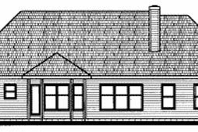 Traditional Exterior - Rear Elevation Plan #20-604 - Houseplans.com