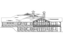 Craftsman Exterior - Rear Elevation Plan #5-466