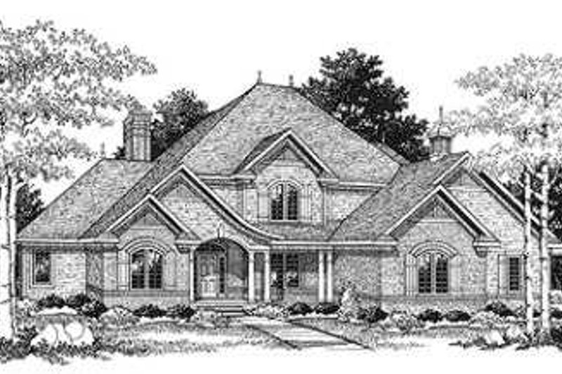 Dream House Plan - European Photo Plan #70-477