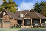 Craftsman Style House Plan - 5 Beds 2 Baths 5835 Sq/Ft Plan #63-422 Exterior - Rear Elevation