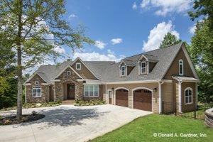 Cottage Exterior - Front Elevation Plan #929-992