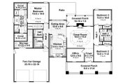 Country Style House Plan - 3 Beds 2.5 Baths 1902 Sq/Ft Plan #21-458 Floor Plan - Main Floor Plan