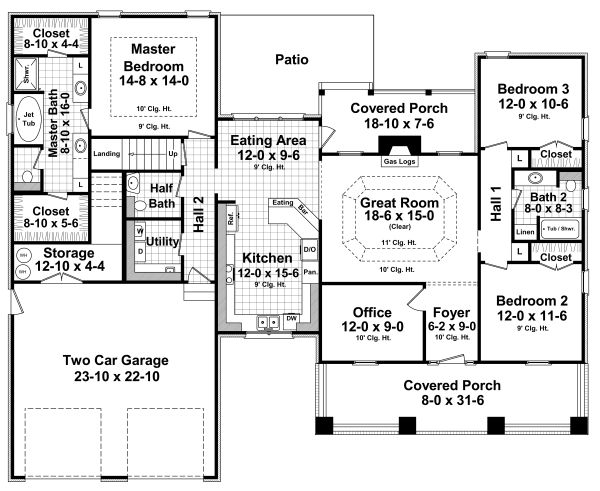 Country Floor Plan - Main Floor Plan Plan #21-458