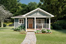 Home Plan - Cottage Exterior - Front Elevation Plan #126-178