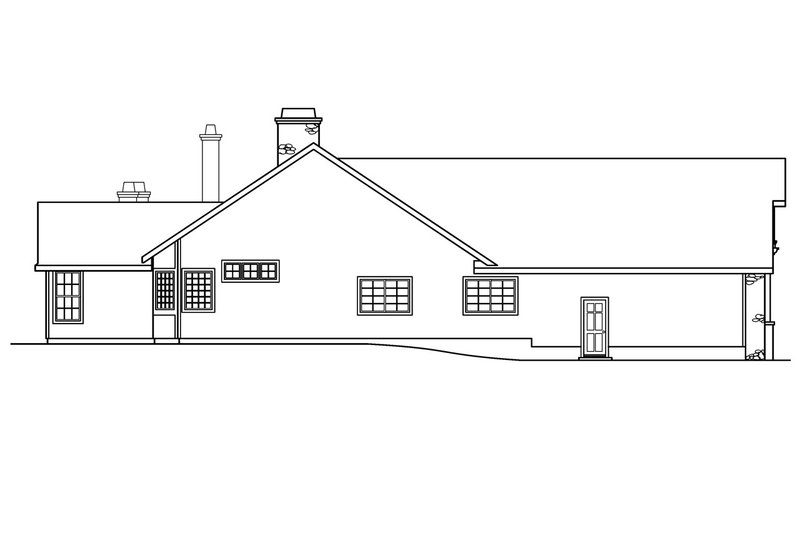 Ranch Exterior - Other Elevation Plan #124-383 - Houseplans.com