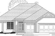 Traditional Style House Plan - 4 Beds 3 Baths 2961 Sq/Ft Plan #67-352 Exterior - Front Elevation