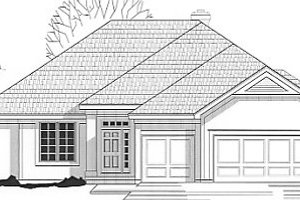Traditional Exterior - Front Elevation Plan #67-352
