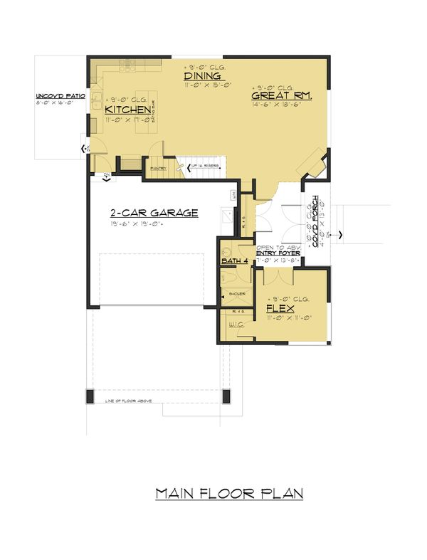 Dream House Plan - Traditional Floor Plan - Main Floor Plan #1066-95