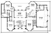 European Style House Plan - 5 Beds 5 Baths 7063 Sq/Ft Plan #20-2378 Floor Plan - Main Floor