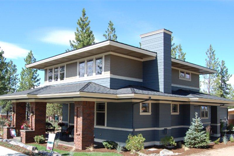 Dream House Plan - Prairie Exterior - Front Elevation Plan #434-15
