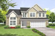 Traditional Style House Plan - 4 Beds 2.5 Baths 2297 Sq/Ft Plan #50-245 Exterior - Front Elevation