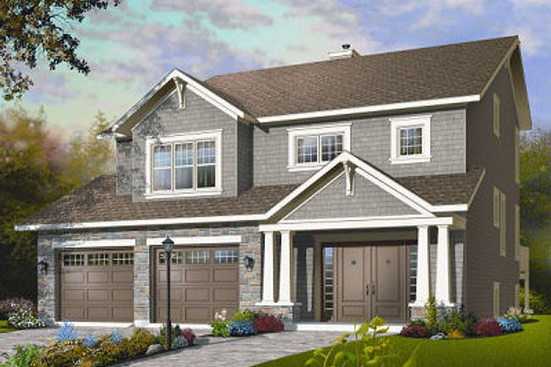 Craftsman Exterior - Front Elevation Plan #23-815