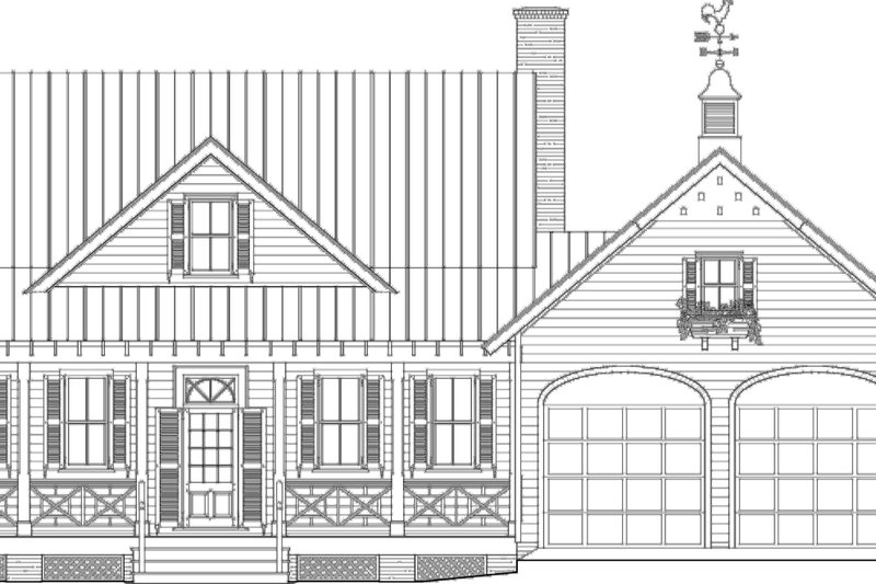 Farmhouse Exterior - Other Elevation Plan #137-273 - Houseplans.com