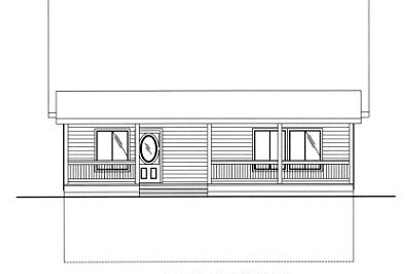 Traditional Exterior - Other Elevation Plan #117-544 - Houseplans.com