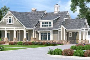 House Blueprint - Craftsman Exterior - Front Elevation Plan #45-598