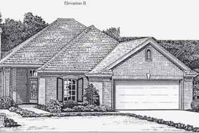 Colonial Style House Plan - 3 Beds 2 Baths 1578 Sq/Ft Plan #310-764 Exterior - Front Elevation