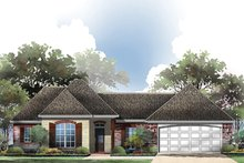 House Plan Design - European Exterior - Front Elevation Plan #430-62