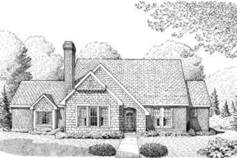 Cottage Exterior - Front Elevation Plan #410-290