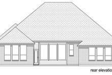 European Exterior - Rear Elevation Plan #84-581