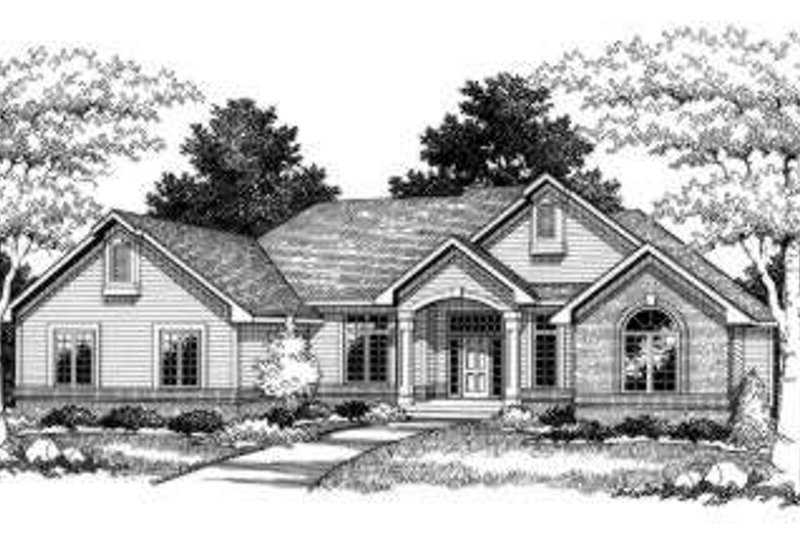 Architectural House Design - Traditional Exterior - Front Elevation Plan #70-759