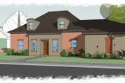 European Style House Plan - 4 Beds 3 Baths 2590 Sq/Ft Plan #460-4 Exterior - Front Elevation