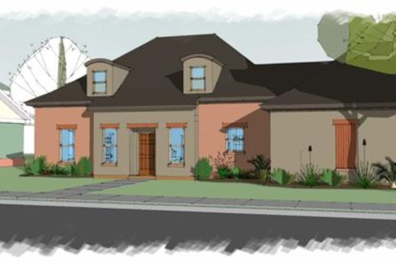 European Exterior - Front Elevation Plan #460-4