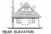 Tudor Style House Plan - 2 Beds 1 Baths 757 Sq/Ft Plan #18-1045 Exterior - Rear Elevation