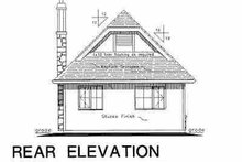 Tudor Exterior - Rear Elevation Plan #18-1045