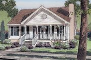 Farmhouse Style House Plan - 3 Beds 2 Baths 1463 Sq/Ft Plan #312-717 Exterior - Front Elevation