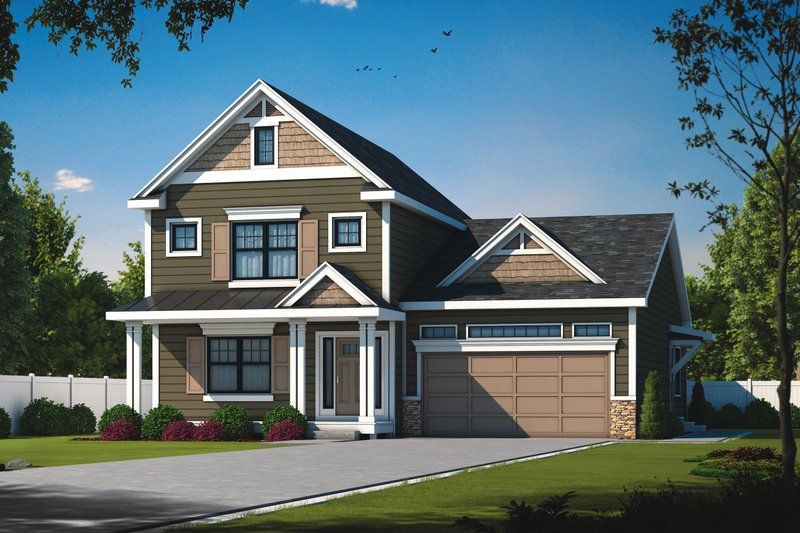 Home Plan - Traditional Exterior - Front Elevation Plan #20-2441