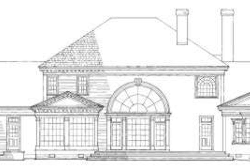 Southern Exterior - Rear Elevation Plan #137-128 - Houseplans.com