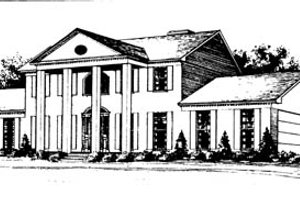 Classical Exterior - Front Elevation Plan #10-261