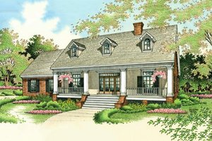 Colonial Exterior - Front Elevation Plan #45-123