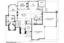 Mediterranean Floor Plan - Main Floor Plan Plan #70-1093