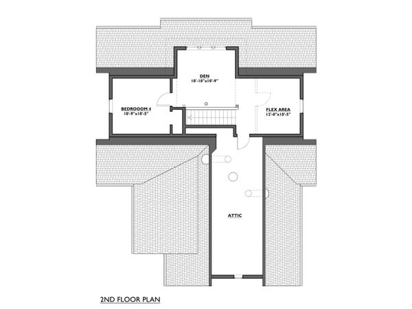 Cottage Floor Plan - Upper Floor Plan #890-8