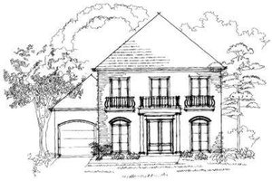 Southern Exterior - Front Elevation Plan #325-113