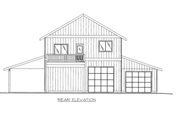 Farmhouse Style House Plan - 2 Beds 2.5 Baths 1660 Sq/Ft Plan #117-796 Exterior - Other Elevation