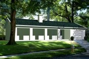 Ranch Style House Plan - 1 Beds 1 Baths 680 Sq/Ft Plan #1-106 Exterior - Front Elevation