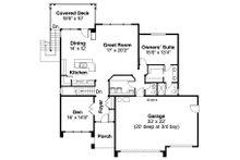 Prairie Floor Plan - Main Floor Plan Plan #124-924