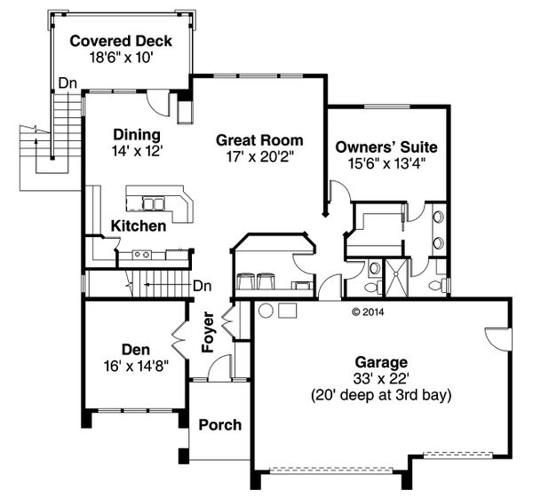 Prairie Floor Plan - Main Floor Plan Plan #124-924