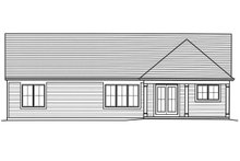 Ranch Exterior - Rear Elevation Plan #46-874