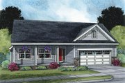 Ranch Style House Plan - 3 Beds 2 Baths 1531 Sq/Ft Plan #20-2271 Exterior - Front Elevation