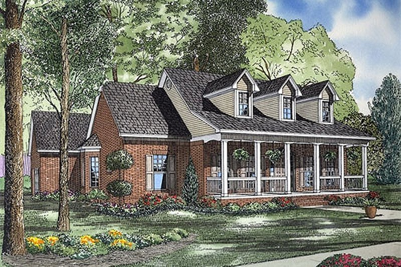House Plan Design - Southern Exterior - Front Elevation Plan #17-2176