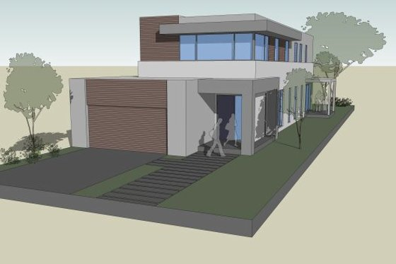 Modern Exterior - Front Elevation Plan #496-27