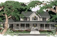 Dream House Plan - Country Exterior - Front Elevation Plan #406-167