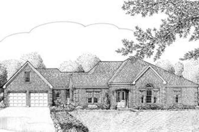European Exterior - Front Elevation Plan #410-363