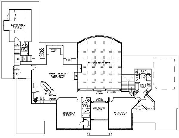 European Floor Plan - Upper Floor Plan Plan #17-1177